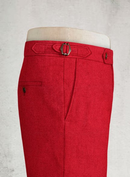 Naples Red Highland Tweed Trousers