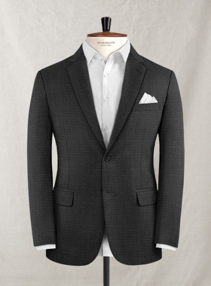Napolean Mill Charcoal Wool Jacket