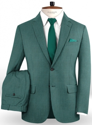 Napolean Chok Green Wool Suit