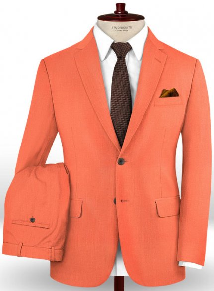 Scabal Portland Orange Wool Suit