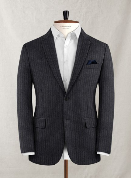 Charles Clayton Ocento Gray Wool Cashmere Jacket