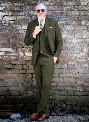 Harris Tweed Country Green Suit