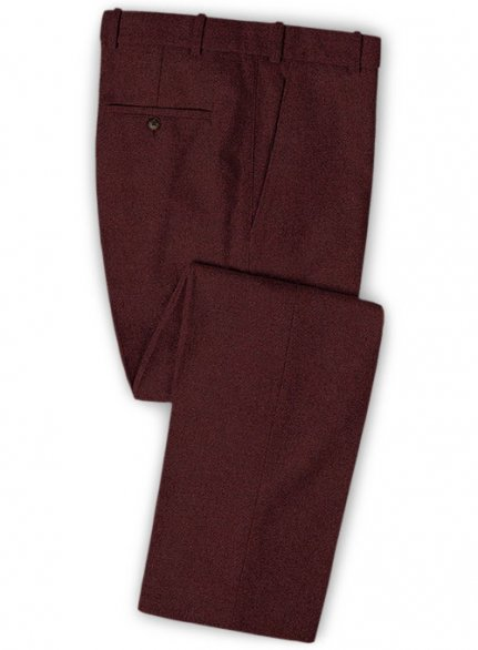 Wine Heavy Tweed Pants