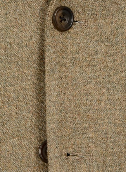 Light Weight Melange Brown Tweed suit- Ready Size