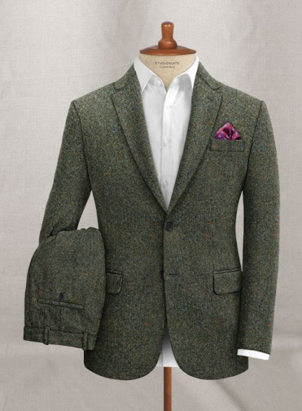 Caccioppoli Donegal Green Tweed Suit