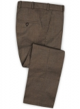 Napolean Brown Sharkskin Wool Pants