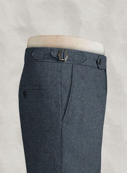 Light Weight Bond Blue Highland Tweed Trousers