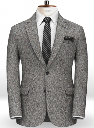 Caccioppoli Donegal Light Gray Tweed Jacket