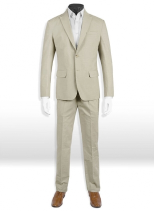 Tropical American Beige Linen Suit - Special Offer