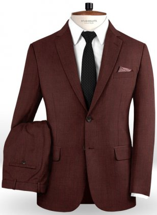 Napolean Melange Wine Wool Suit