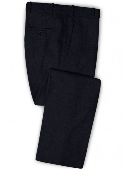 Deep Blue Heavy Tweed Pants