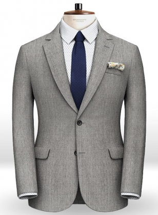 Scabal Light Gray Pure Wool Jacket