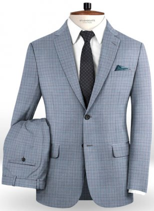 Napolean Lazo Sky Blue Wool Suit