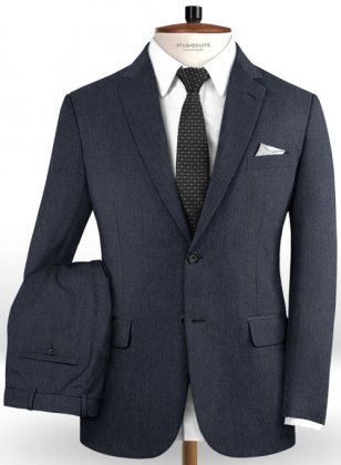 Reda Indigo Blue Pure Wool Suit