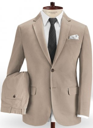 European Khaki Chino Suit