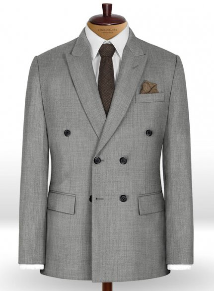 Napolean Worsted Light Gray Wool Jacket