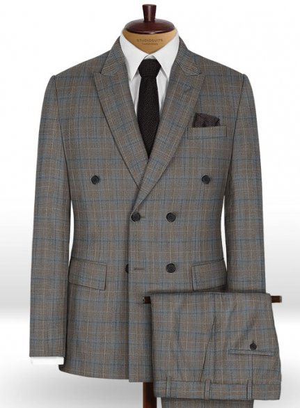 Napolean Imunda Gray Wool Suit