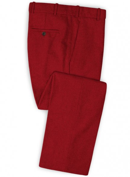 Naples Red Tweed Pants