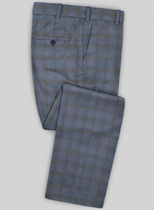 Scabal Mosaic Petila Gray Wool Pants