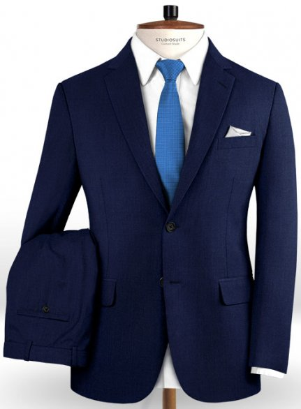 Reda Gem Blue Pure Wool Suit