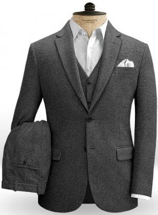 Gray Denim Tweed Suit