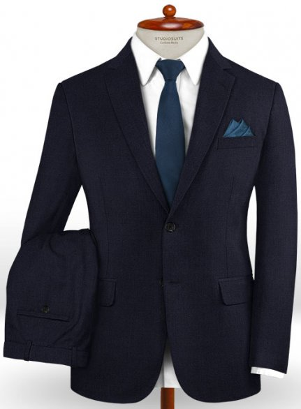 Caccioppoli Dapper Dandy Arber Navy Blue Wool Suit