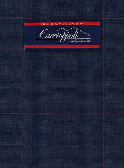 Caccioppoli Wool Blue Batti Suit