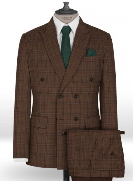 Napolean Egelio Brown Wool Suit