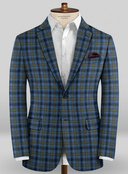 Scabal Taormina Zaddi Blue Wool Jacket