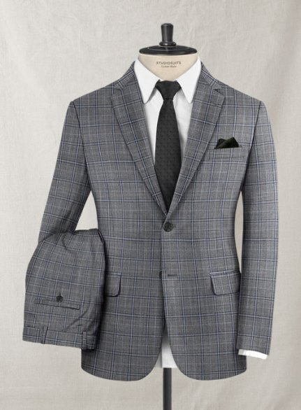 Reda Olando Blue Gray Wool Suit