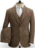 Rust Herringbone Tweed Suit