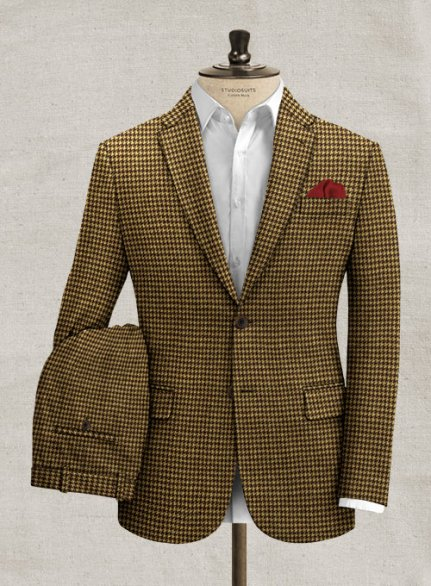Italian Berote Houndstooth Tweed Suit