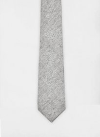 Tweed Tie - Light Gray