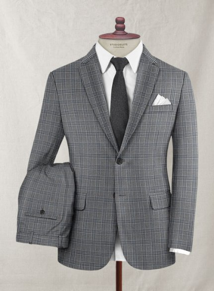 Reda Stobal Blue Gray Wool Suit