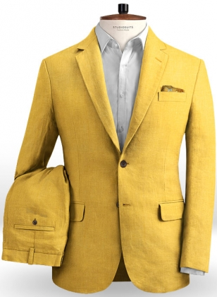 Pure Orchid Yellow Linen Suit