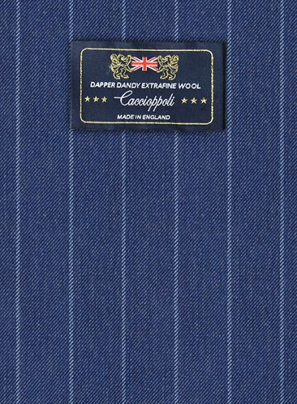 Caccioppoli Dapper Dandy Parbo Blue Wool Suit