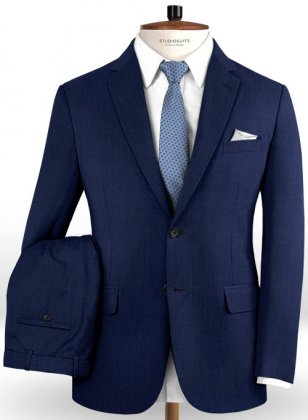Reda Royal Blue Pure Wool Suit