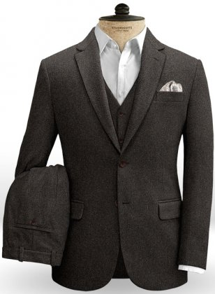 Gray Brown Heavy Tweed Suit