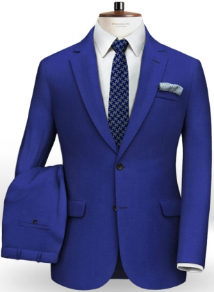 Italian Royal Blue Wool Suit