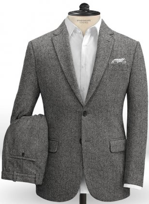 Harris Tweed Barley Gray Suit