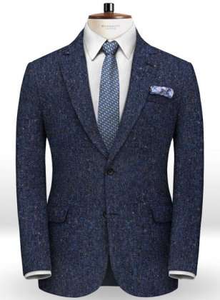 Caccioppoli Donegal Blue Tweed Jacket