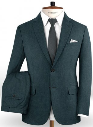 Reda Steel Green Pure Wool Suit