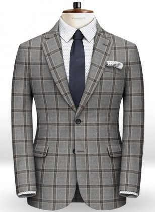 Light Weight Southrail Gray Tweed Jacket