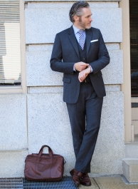 Napolean Gino Blue Wool Suit