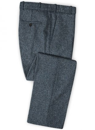 Arc Blue Herringbone Flecks Donegal Tweed Pants