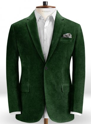 Stretch English Green Corduroy Jacket
