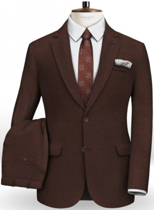 Italian Flannel Wine Wool Suit