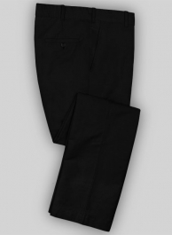 Washed Black Safari Cotton Linen Pants