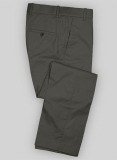 Summer Weight Dark Gray Tailored Chinos