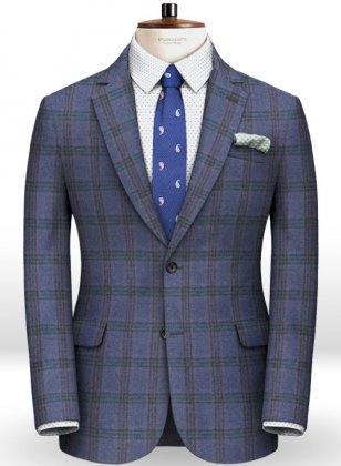 Light Weight Mallow Blue Tweed Jacket